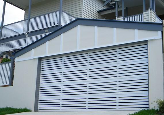 Selections Aluminium Slat 65 Sectional Garage Door Best