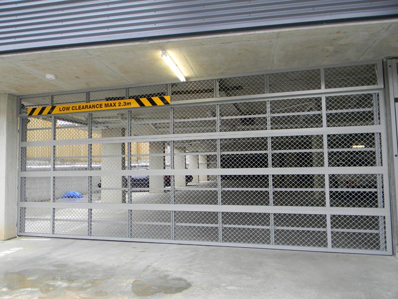 Residential Sectional Garage Door : Selections small diamond mesh overhead door best doors