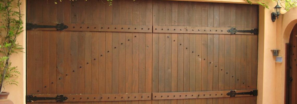 The Danmar Barn Panel Natural Timber Garage Door